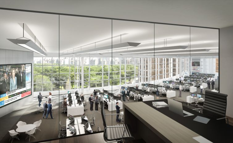 Inside Deutsche Bank's offices at One Columbus Circle.
