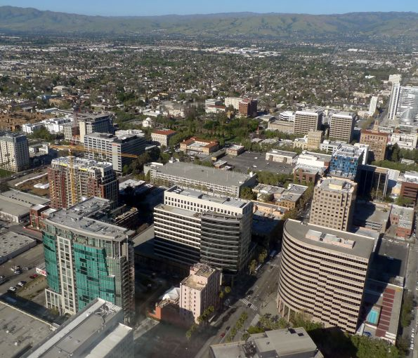Aerial view of downtown San Jose.