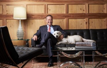 Greystar Founder, Chairman and CEO Bob Faith, with his Labrador, Dakota.