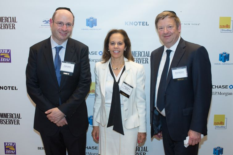 From L to R: Meridian Capital Group's Ralph Herzka, Himmel + Meringoff's Leslie Wohlman Himmel and Merdian's Aaron Birnbaum.