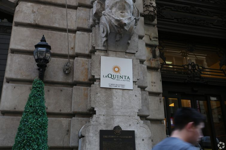 A La Quinta hotel in Manhattan.