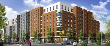 A rendering of the planned building at 1755 Watson.