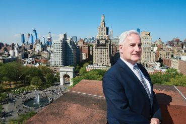 NYU executive vice president Martin Dorph oversees the university's massive real estate holdings in Greenwich Village.