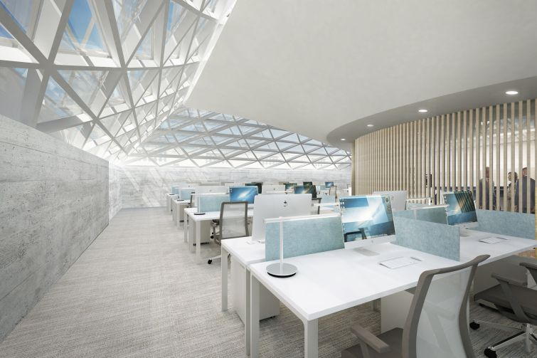 Rendering of fourth floor offices at 44 Union Square.