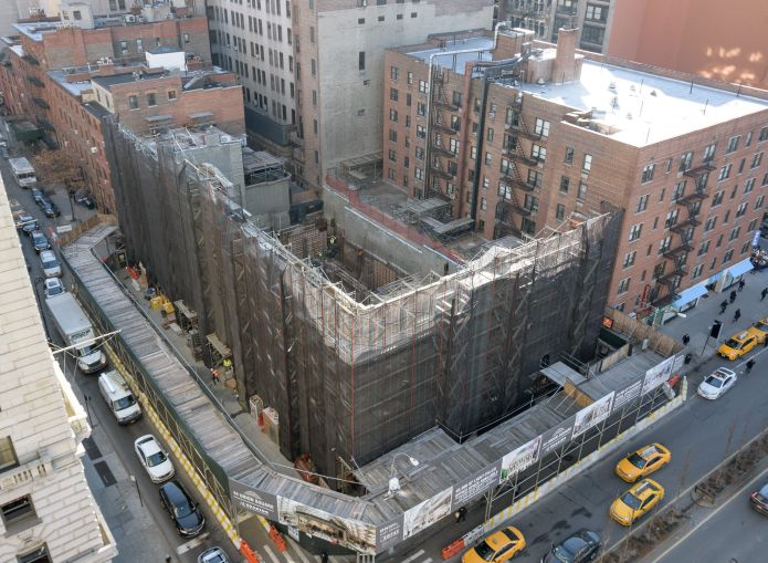 Construction work on the old Tammany Hall at 44 Union Square East.
