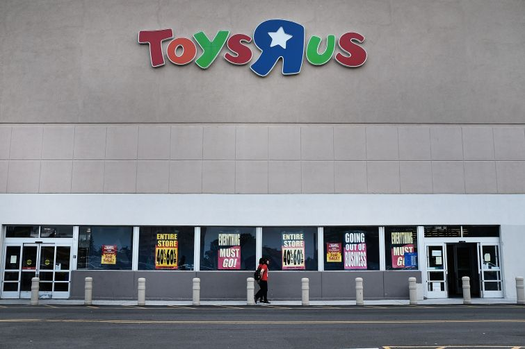 A Toys R Us store stands in Brooklyn on June 8, 2018 in New York City.