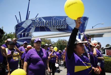 Disneyland Wage Protest
