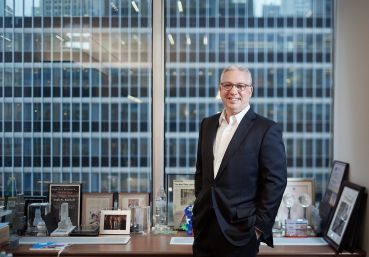 Josh Kuriloff, pictured in his office at Cushman & Wakefield, helped assemble an 800,000-square-foot lease for Pfizer at 66 Hudson Boulevard.