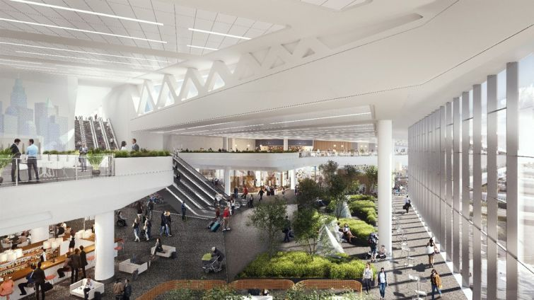 A rendering of LaGuardia Airport's Terminal B. Photo: