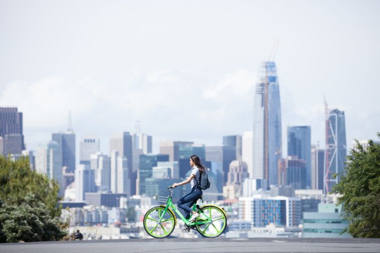 """LimeBike will be offered as the exclusive bike and scooter-sharing service at select properties as an """"innovation amenity."""""""