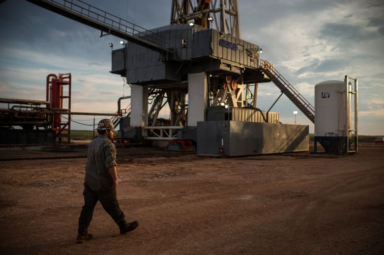 An oil rig in North Dakota.