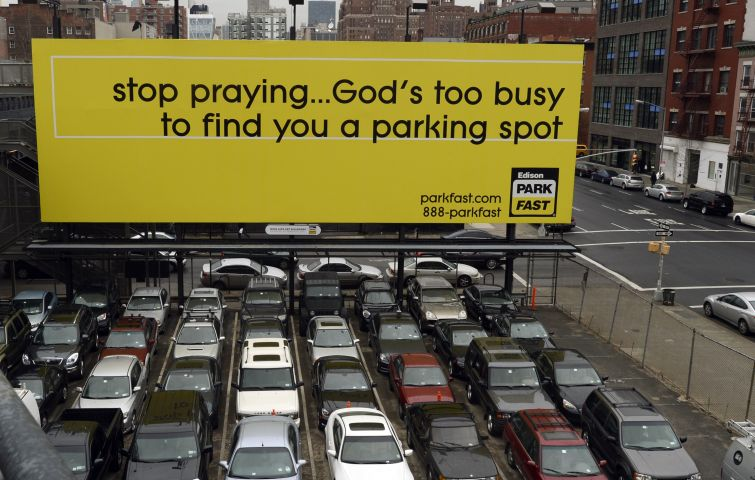 A parking lot on 10th Avenue in Manhattan.