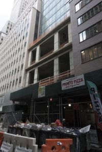 The base of 143 Fulton Street.