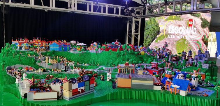 Model of Legoland New York Resort in Goshen, N.Y.