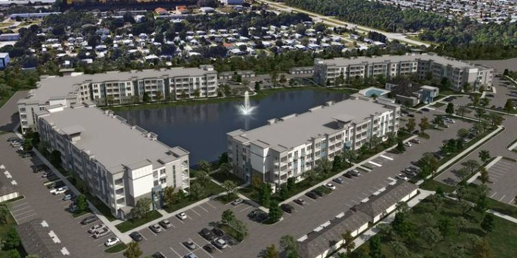 A rendering of Aqua Residences in Palm Bay, Fla.