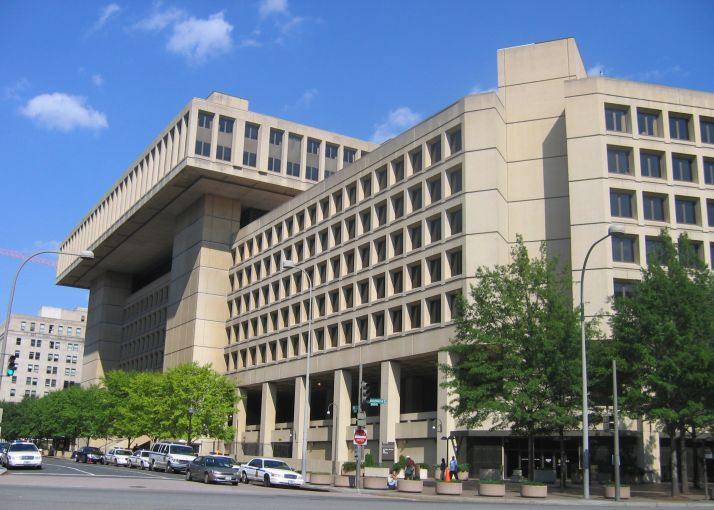 The FBI headquarters at the J. Edgar Hoover Building in D.C.