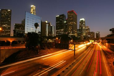 Downtown Los Angeles, home to the Van Nuys Apartment that was part of the sale.