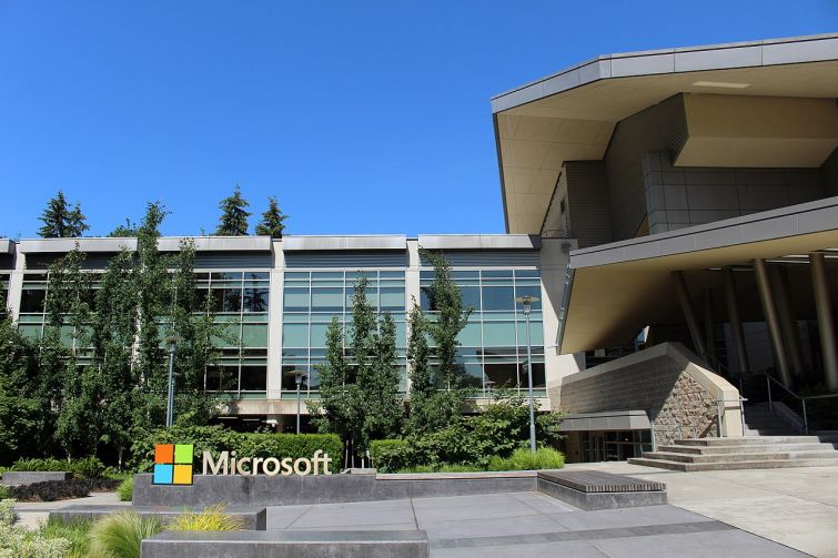 Microsoft buildings in Redmond, Wash.