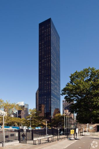 Trump World Tower at 845 United Nations Plaza.
