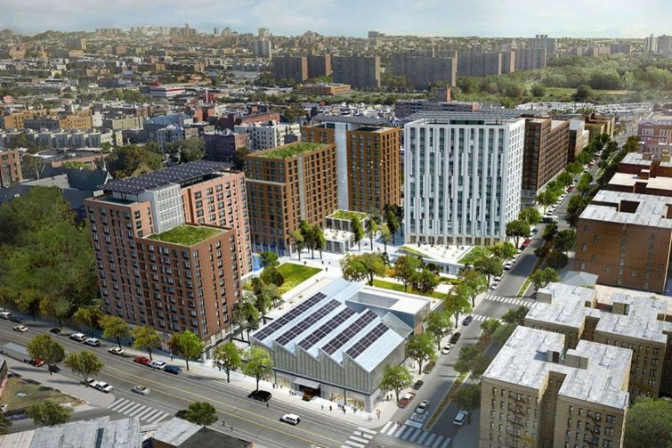 A rendering of The Peninsula, the planned redevelopment of the former Spofford Juvenile Detention Center in the South Bronx.