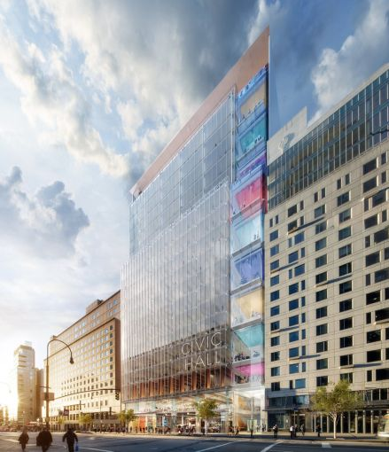 A rendering of the proposed Union Square Tech Hub.
