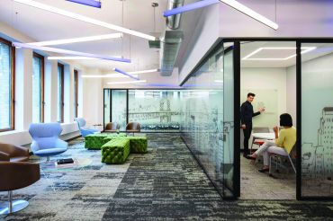 Zillow Group's expanded offices at 130 Fifth Avenue.