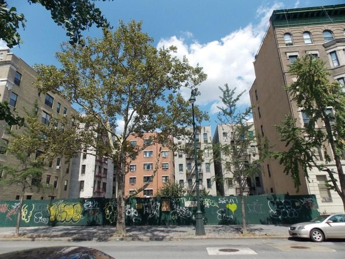 The site at 145 West 110th Street.
