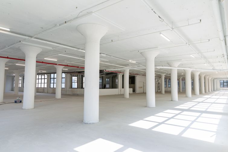 The wide open expanse of the second floor will be even larger when renovations are completed at 43-10 23rd Street.