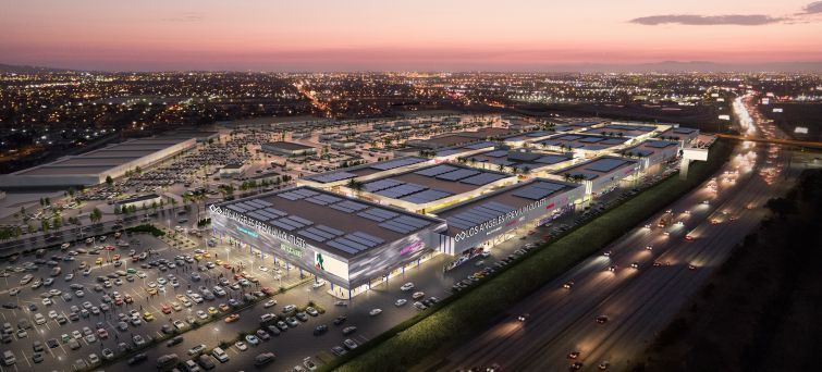 Rendering of the Los Angeles Premium Outlets.