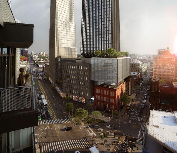 The revised design for 80 Flatbush Avenue.