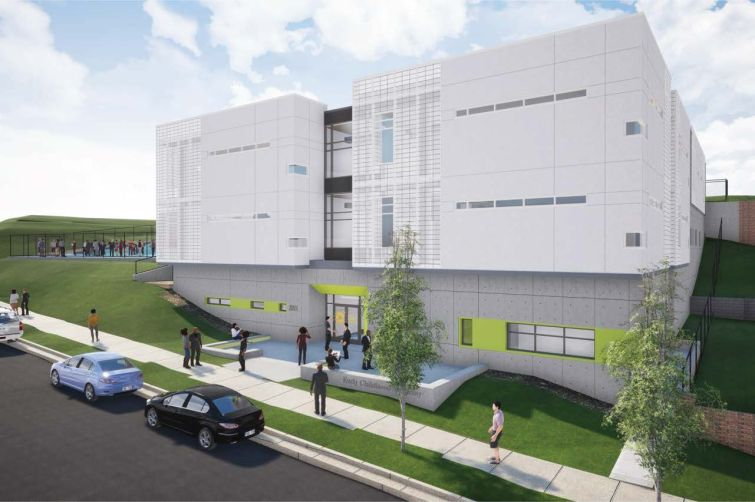 Early Childhood Academy building rendering.