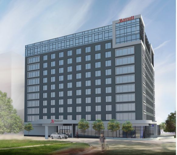 The Marriott hotel at 144-02 135th Avenue.
