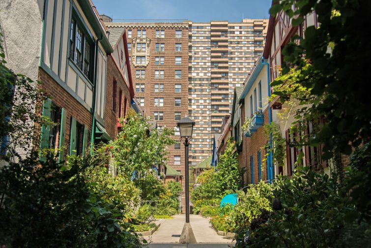 Pomander Walk is a private, gated community on the Upper West Side. It feels like a slice of suburbia in Manhattan, but private streets in the outer boroughs can make life hell for residents.