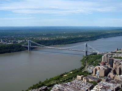 Northern New Jersey and the George Washington Bridge.