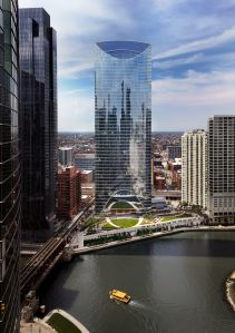 River Point Tower, Location: Chicago IL, Architect: Pickard Chilton Architects