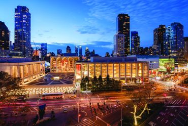 Lincoln center, across the street from 1900 Broadway