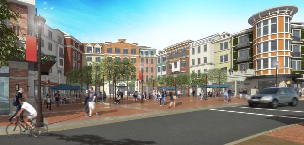 A rendering of Village Square in Glen Cove, N.Y.