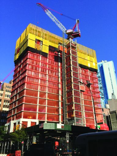 Triton Construction is building the 57-story residential condominium tower at 11 Hoyt Street in Downtown Brooklyn.