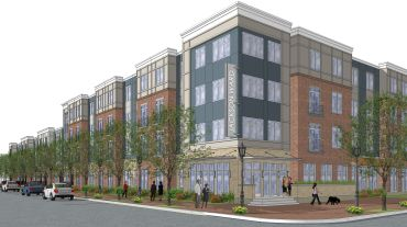 A rendering of the project in Richmond, Va.