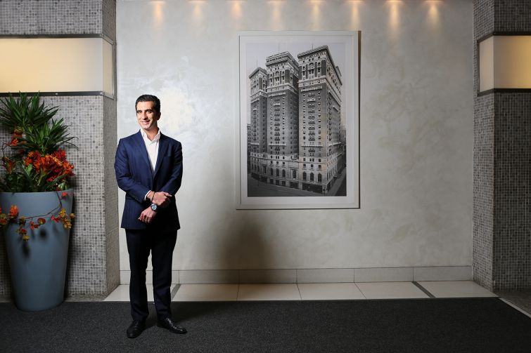 Louis Jerome, a principal at JEMB Realty, is the driving force behind the company's renovations at Herald Towers at 50 West 34th Street.