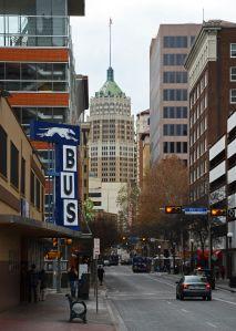 Commercial buildings in San Antonio, Texas.