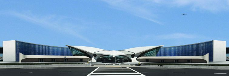 Turner Construction is wrapping up work on the conversion of the former TWA terminal into a hotel at JFK Airport.