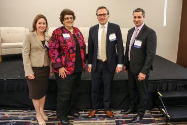 "The ""Cash Overflow"" Panelists. From Left to Right: Jennifer Bruton, Kim Betancourt, Garrett Bjorkman and Kurt Stuart."