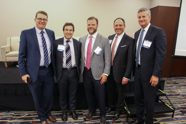 "The ""Owner's Perspective"" Panelists. From Left to Right: Brian Gould, Gary Block, Matthew Pestronk, Jeffrey Keitelman and Oliver Carr."