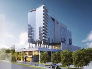 A rendering of the W Hotel Nashville.