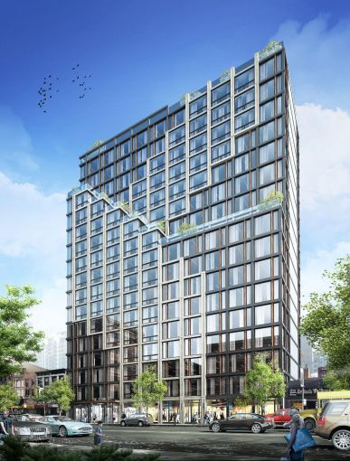 A rendering of 54-62 West 125th  Street.