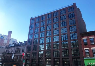 The new building on The Bowery.