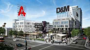 Rendering of Academy on Vine where Netflix signed on for the entire office portion in one of the largest leases of 2018.