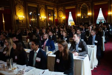 The audience during a panel discussion at CO's Fall Commercial Real Estate Financing Forum.