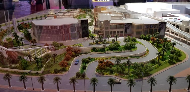 A model of the Cairo Festival City Mall, developed Al-Futtaim Group Real Estate.
